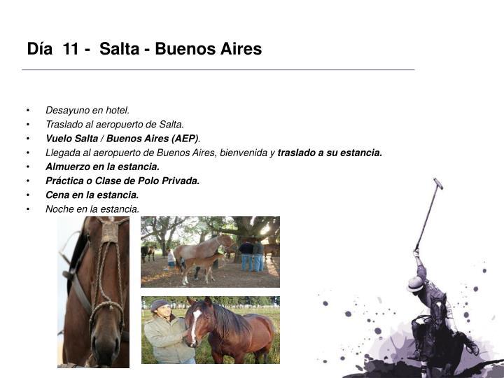 Día  11 -  Salta - Buenos Aires