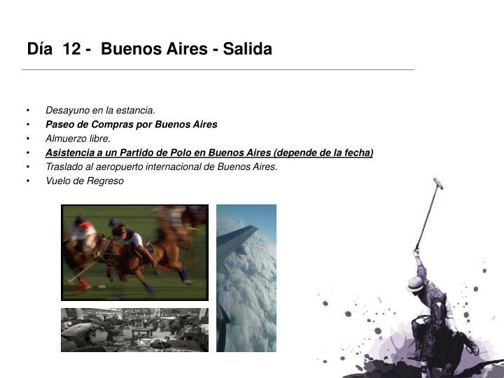 Día  12 -  Buenos Aires - Salida