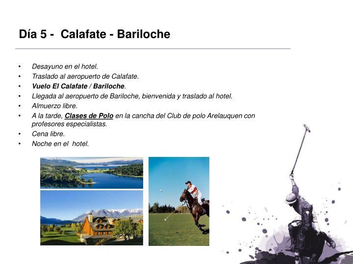 Día 5 -  Calafate - Bariloche