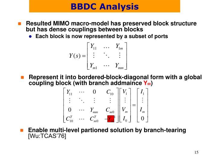 BBDC Analysis