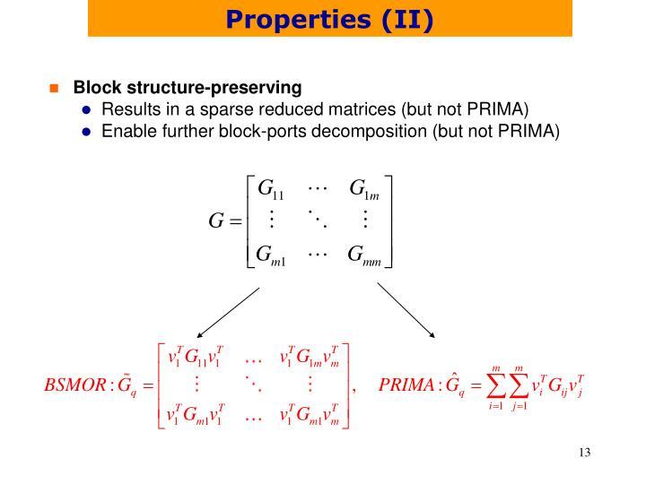Properties (II)