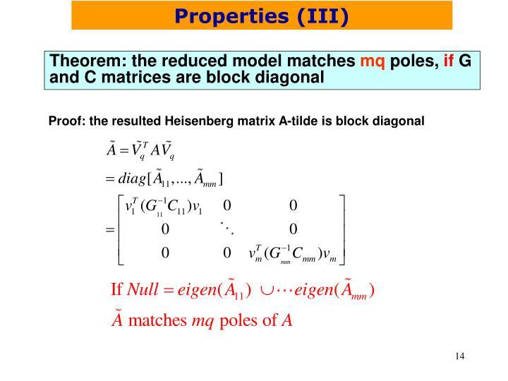 Properties (III)