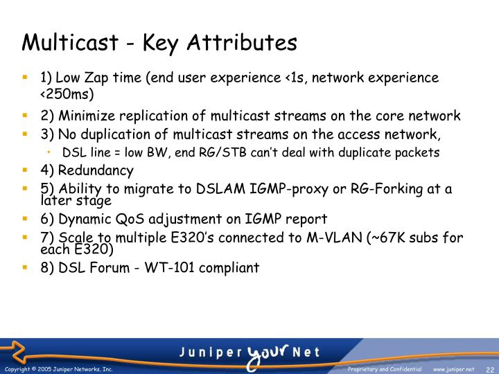 Multicast - Key Attributes