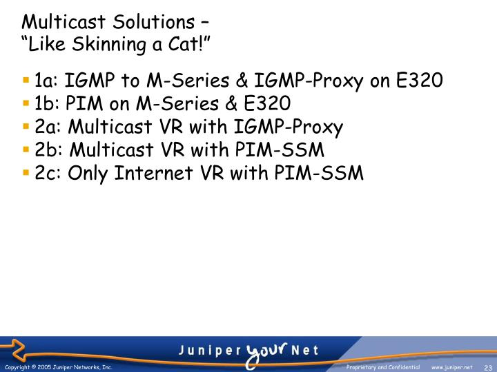Multicast Solutions –