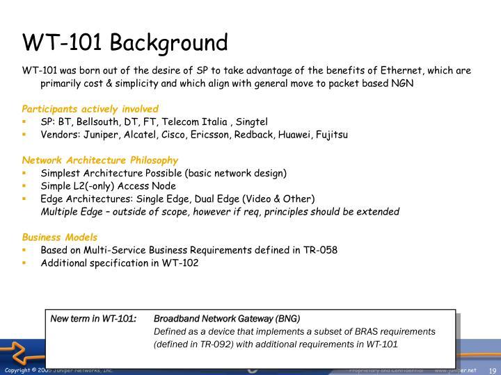 WT-101 Background