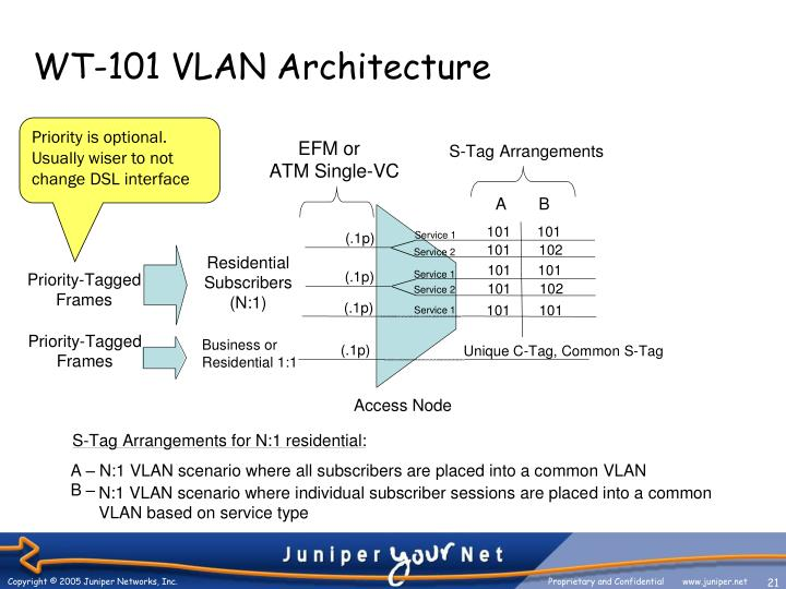 WT-101 VLAN Architecture