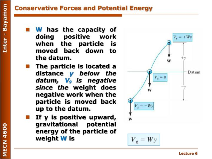 Conservative Forces and Potential Energy