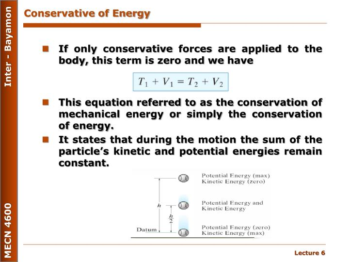 Conservative of Energy