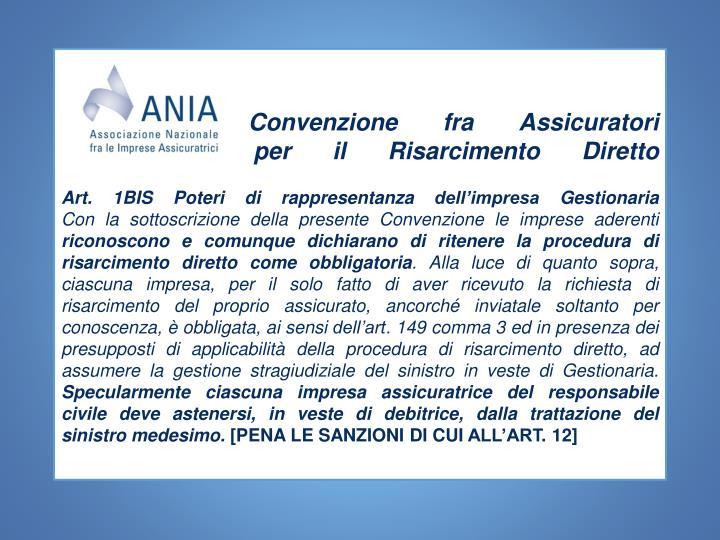 Convenzione fra Assicuratori