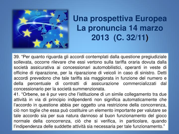 Una prospettiva Europea