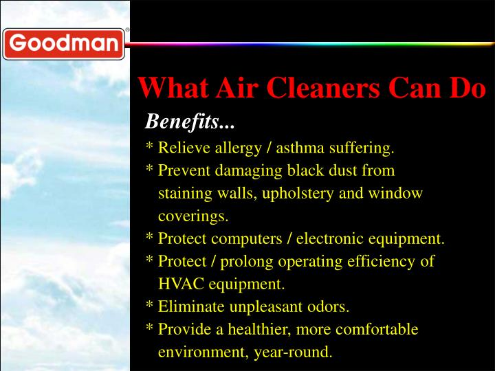 What Air Cleaners Can Do