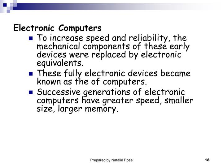 Electronic Computers