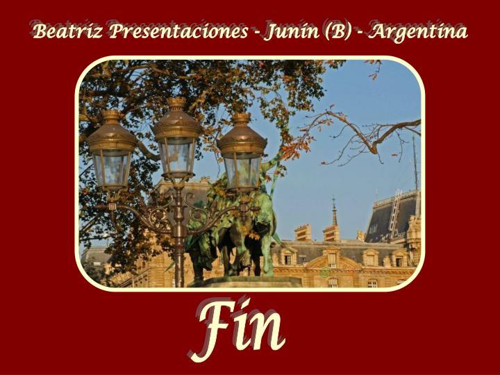 Beatriz Presentaciones - Junín (B) - Argentina