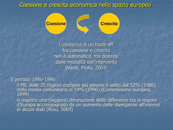 Coesione e crescita economica nello spazio europeo