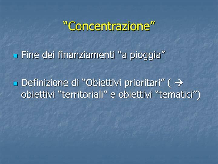 """""""Concentrazione"""""""