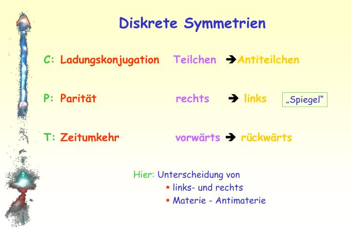 Diskrete Symmetrien