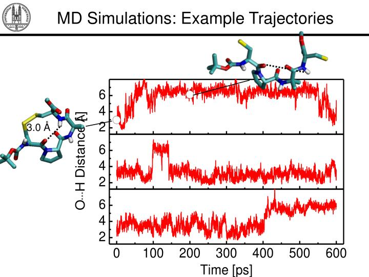 MD Simulations: Example Trajectories