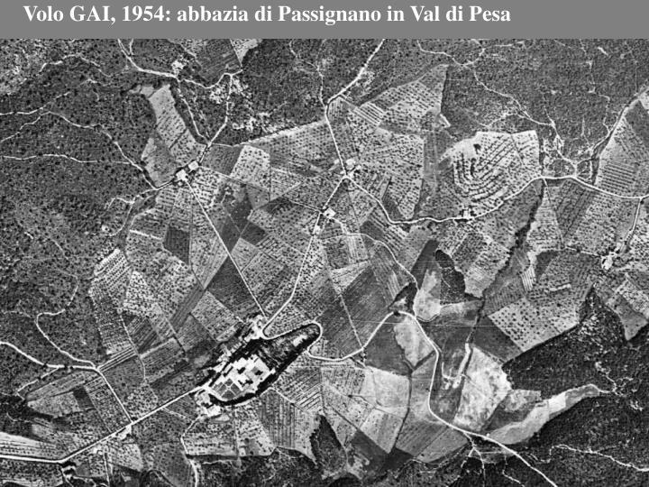 Volo GAI, 1954: abbazia di Passignano in Val di Pesa