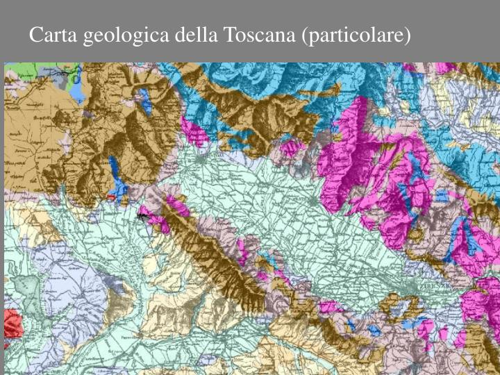 Carta geologica della Toscana (particolare)
