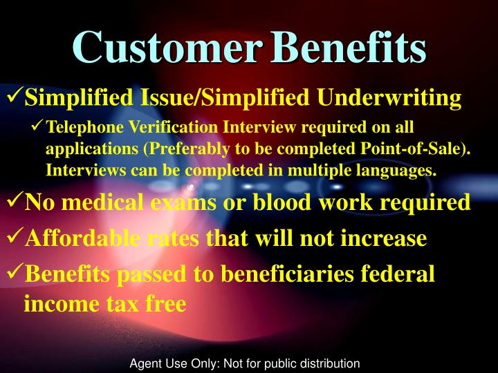 CustomerBenefits