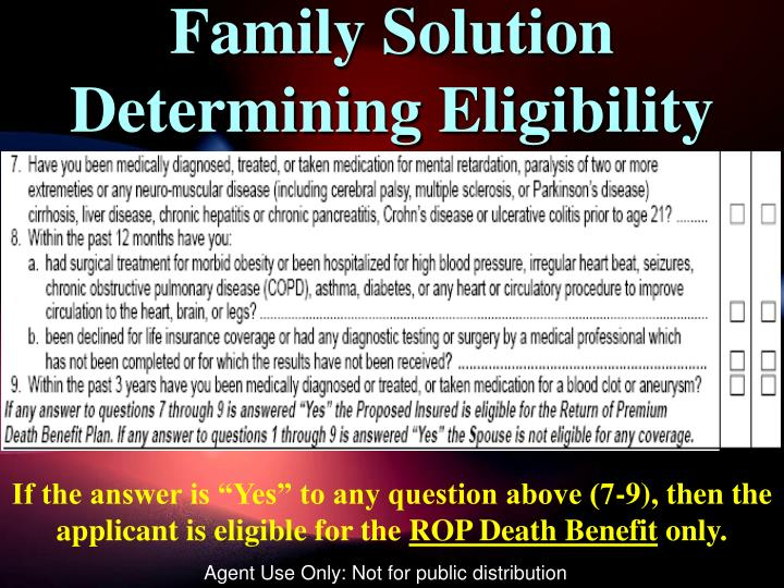 Family Solution Determining Eligibility