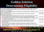 golden solution determining eligibility1