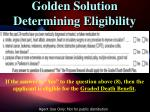 golden solution determining eligibility2