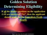 golden solution determining eligibility3