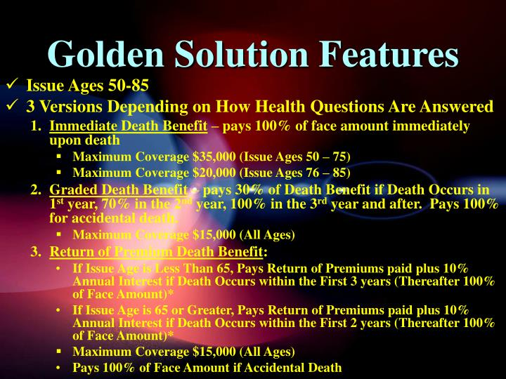 Golden Solution Features