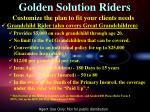 golden solution riders