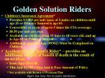 golden solution riders1