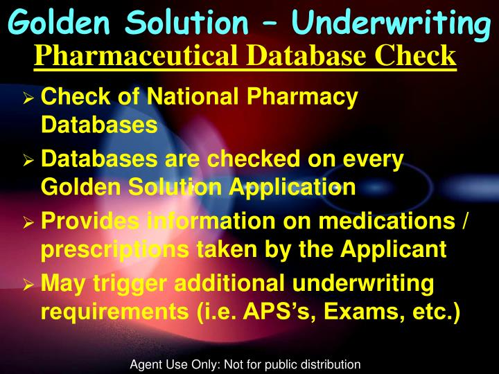 Golden Solution – Underwriting
