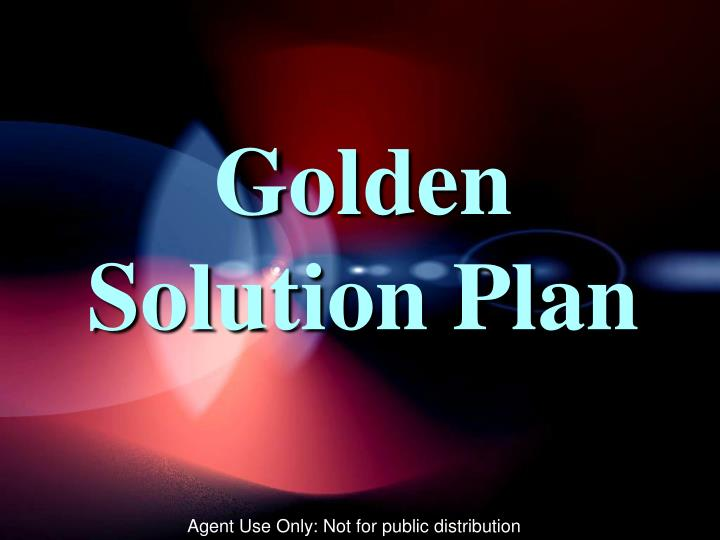 Golden Solution Plan