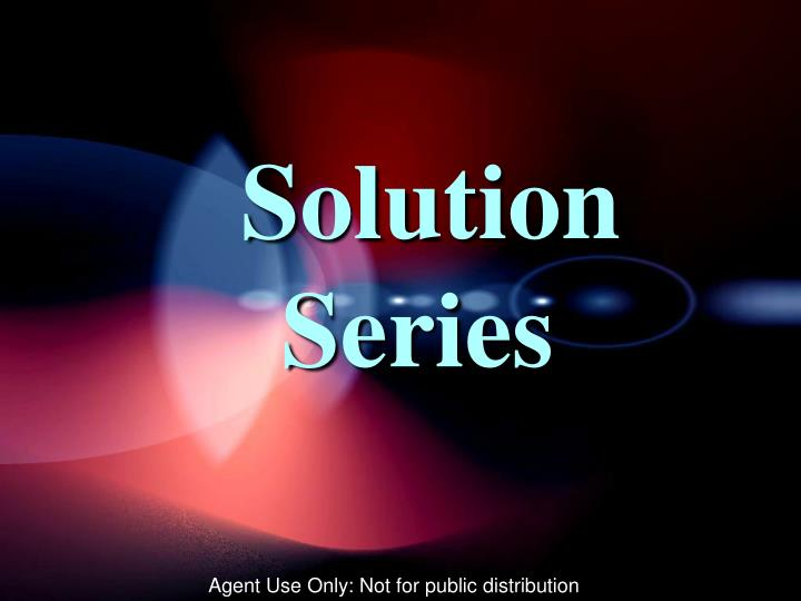 Solution series