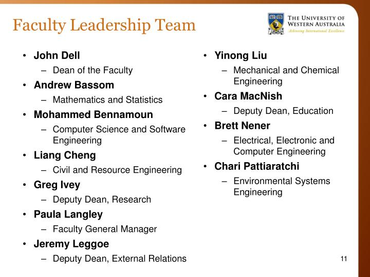 Faculty Leadership Team