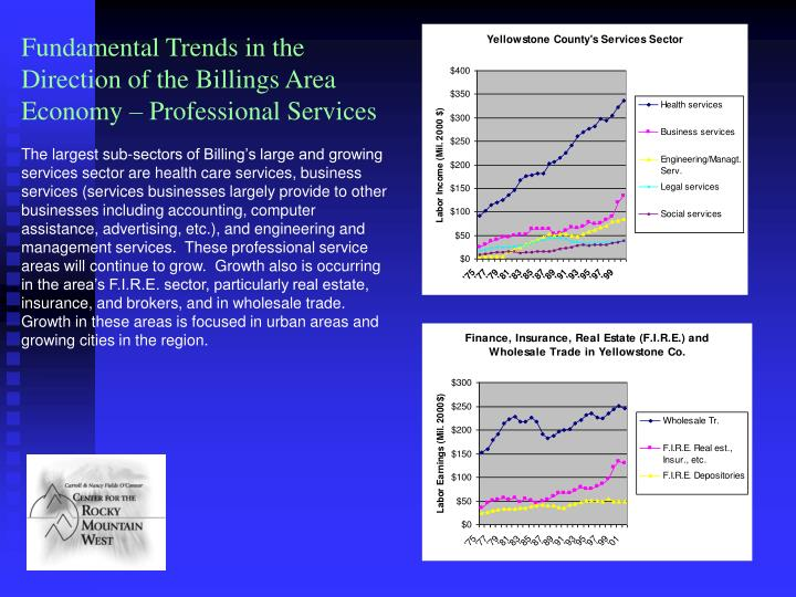 Fundamental Trends in the Direction of the Billings Area Economy – Professional Services
