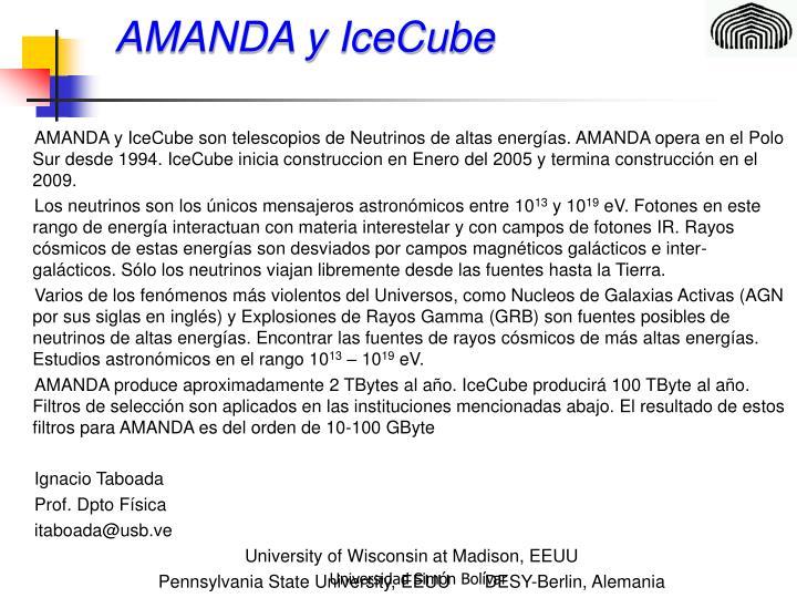 AMANDA y IceCube