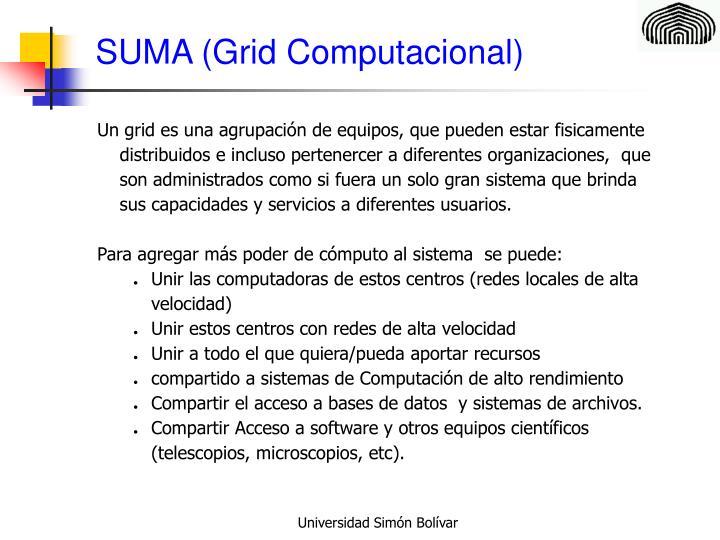 SUMA (Grid Computacional)