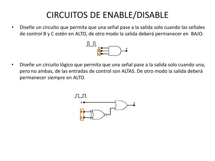 CIRCUITOS DE ENABLE/DISABLE