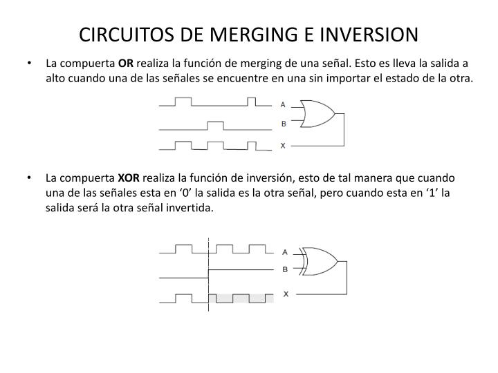 CIRCUITOS DE MERGING E INVERSION
