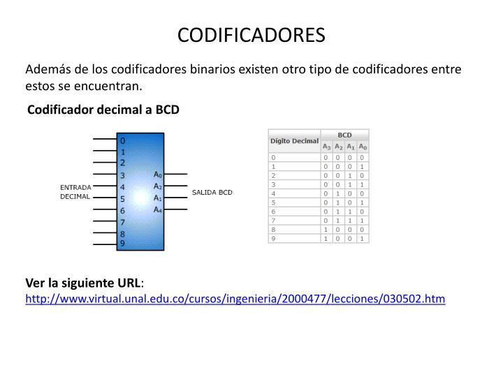 CODIFICADORES