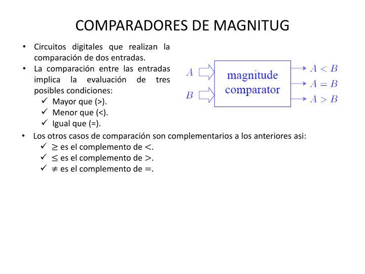 COMPARADORES DE MAGNITUG