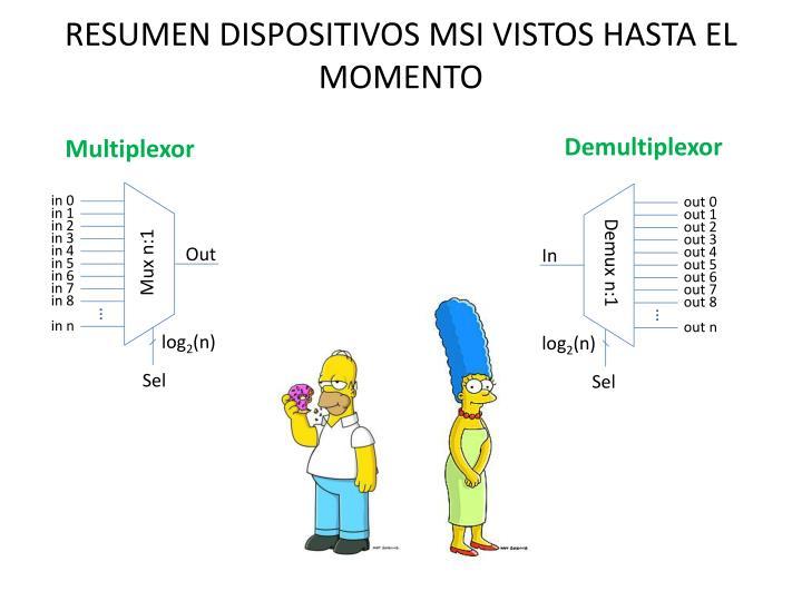 RESUMEN DISPOSITIVOS MSI VISTOS HASTA EL MOMENTO