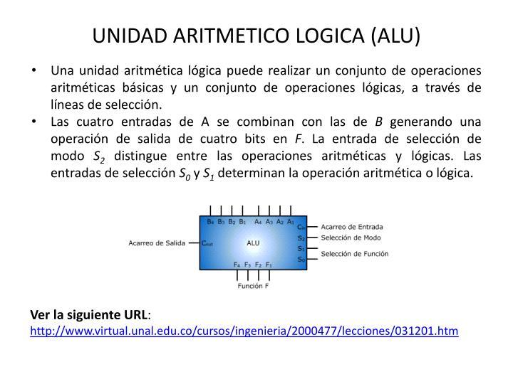 UNIDAD ARITMETICO LOGICA (ALU)