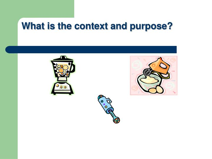 What is the context and purpose?