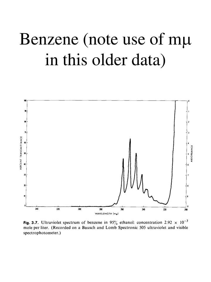Benzene (note use of