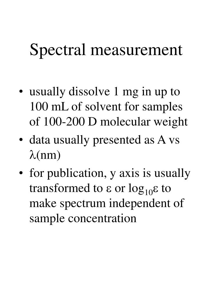 Spectral measurement