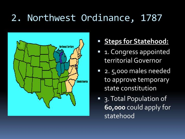 2. Northwest Ordinance, 1787