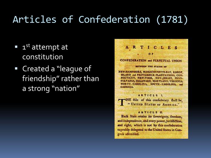 Articles of Confederation (1781)