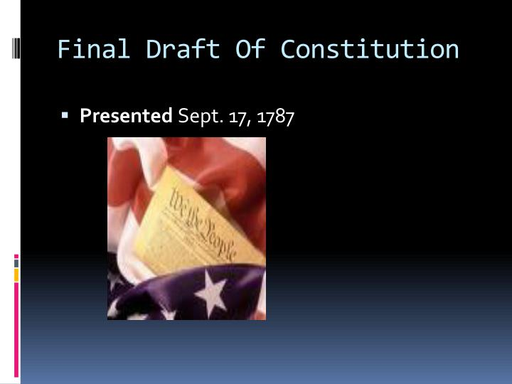 Final Draft Of Constitution